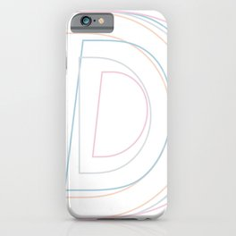 Intertwined Strength and Elegance of the Letter D iPhone Case