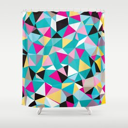 Fractured Polygons Shower Curtain