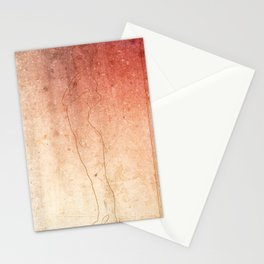 Grunge girl Stationery Cards
