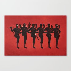 Ninja Kickline Canvas Print