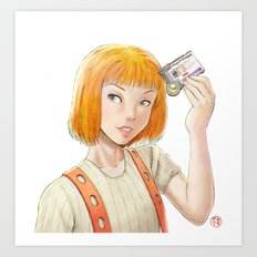 The Fifth Element - Leeloo Multipass Art Print