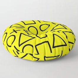 Memphis pattern 71 Floor Pillow
