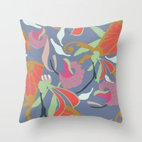 oriental Throw Pillows featuring Oriental  by Laura Sturdy