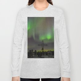 Ghostly Northern Lights Long Sleeve T-shirt