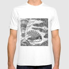 The Balloon, The Penguin, The Creature MEDIUM White Mens Fitted Tee