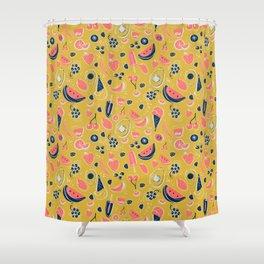 Summer Food Fiesta Shower Curtain