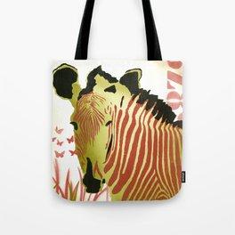 Funky Zebra Style  No1 Tote Bag