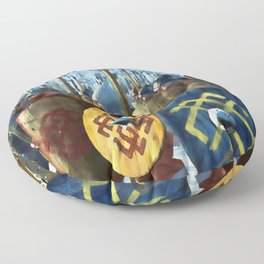 Medieval Army in Battle Floor Pillow