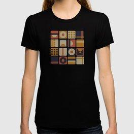 Retro Geometrical Minimalist Squares T-shirt