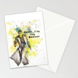 Doctor Who 10th Doctor David Tennant Art Poster Print Stationery Cards