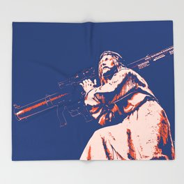 Rocket Propelled Christ - Who WOuld Jesus Blow Up Throw Blanket