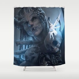 Tooth and Bone Shower Curtain