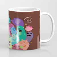 monsters Mugs featuring Monsters by Maria Jose Da Luz