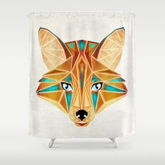 blue fox Shower Curtain