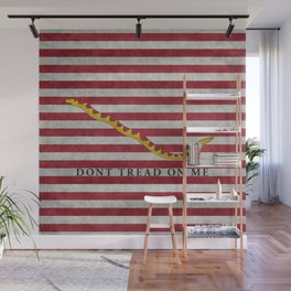First Navy Jack flag of the USA, vintage Wall Mural