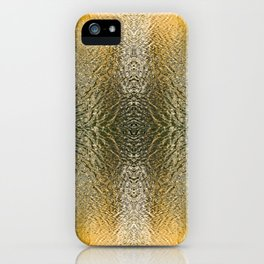 Silver and Gold, Water Colors iPhone Case