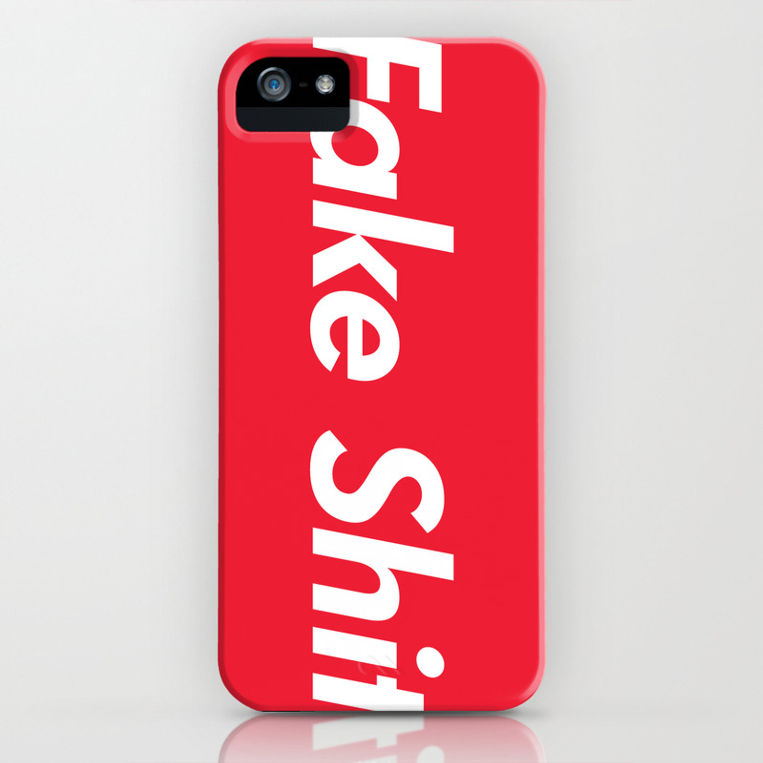 Fake Shit (Supreme Rip-Off) IPhone Case By Owenthehyooman | Society6