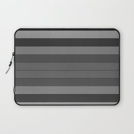 Black and Gray Stripes Laptop Sleeve