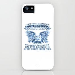 NAVY VETERAN iPhone Case