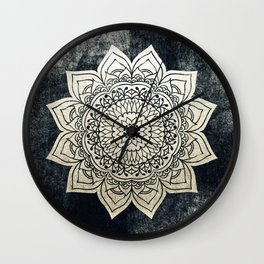 DEEP GOLD MANDALA Wall Clock