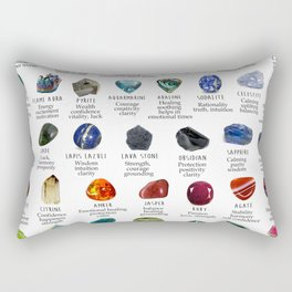 Crystal meanings and stone colours Rectangular Pillow