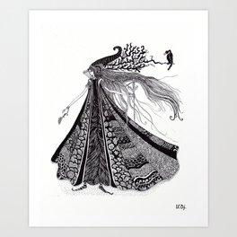 Wood Fairy Warrior Art Print