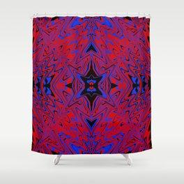 red blue flow symmetry Shower Curtain