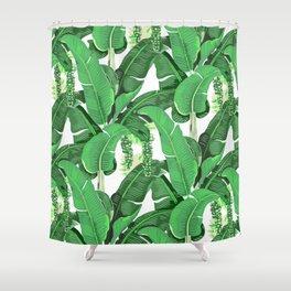 banana leaves brazilliance Shower Curtain