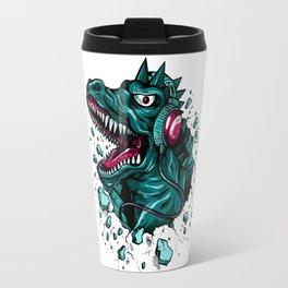 Dino with Headphones Green Cyprus Travel Mug