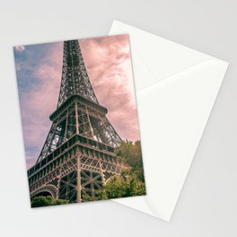 France Photography - Trees By The Eiffel Tower Stationery Cards