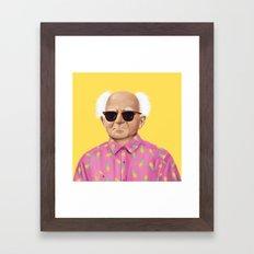 The Israeli Hipster leaders - David Ben Gurion Framed Art Print