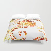 sea horse Duvet Covers featuring Sea-Horse by LIGHTNING9