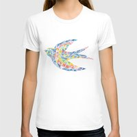swallow T-shirts featuring Triangled Swallow  by XOOXOO
