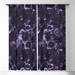 Moody florals purple by Odette Lager Blackout Curtain