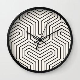 GeOM: a minimal, geometric pattern in black and white Wall Clock