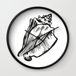 Beach Day Collection -  Conch Shell Wall Clock
