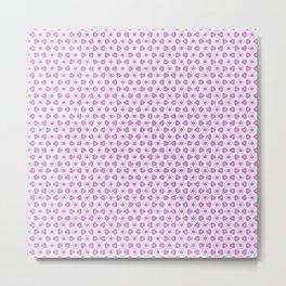 Pink Delicate Flowers Metal Print