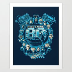 AWESOME 80s Art Print