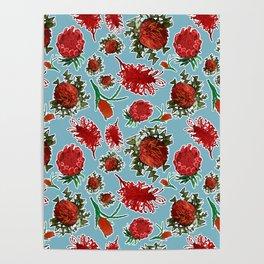 Australian Native Floral Pattern Poster