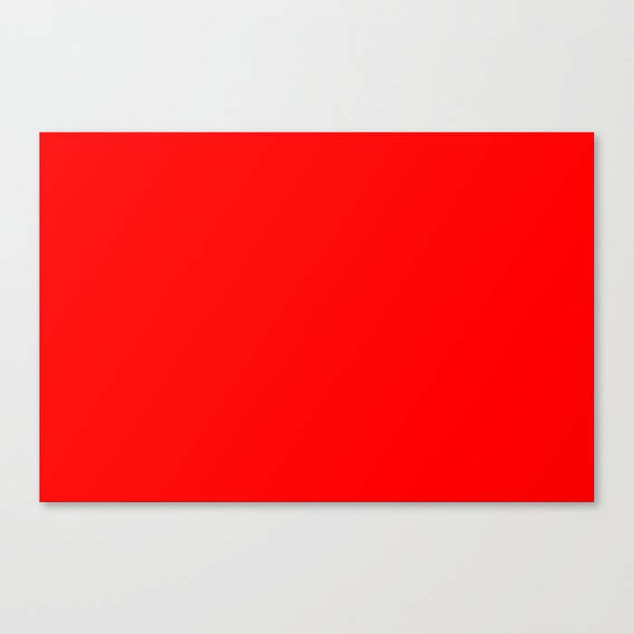 ff0000 Bright Red Canvas Print