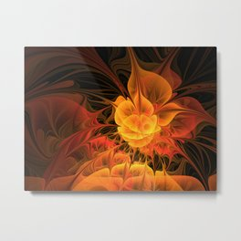 Get Together, Abstract Fractal Art With Warmth Metal Print