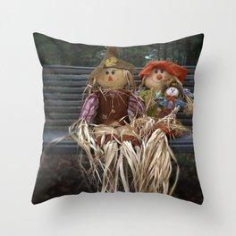 Scarecrow Family Throw Pillow