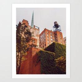 Rooftops lll Art Print