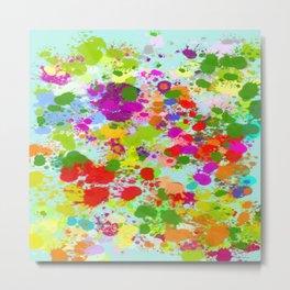 Paint Splattered Sky Metal Print