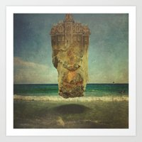 magritte Art Prints featuring Ode to Magritte by sarah