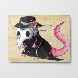 Plague Rat Metal Print
