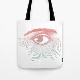 I See You. Pink Turquoise Gradient Sunburst Tote Bag