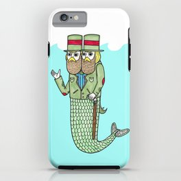 Portrait of a two headed merman iPhone Case