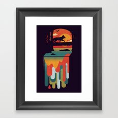 Great Falls Framed Art Print