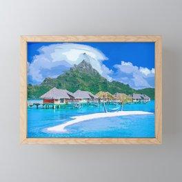 A Memorable Summer Vacation Framed Mini Art Print
